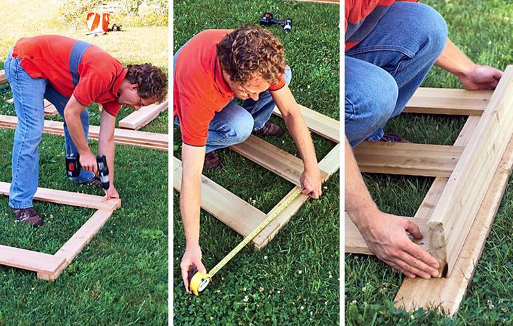 faire son bas a compost en bois