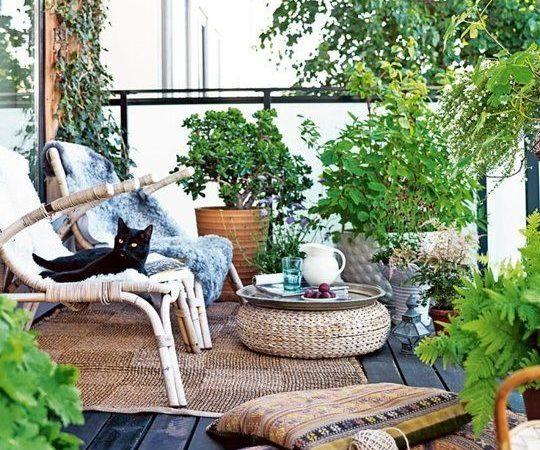 salon de jardin tressé